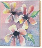 Salt Flowers Wood Print