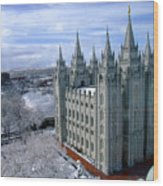 Salt Lake City Lds Temple Wood Print
