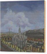 Salt Lake City Temple Square Nineteen Twelve Left Panel Wood Print by Jeff Brimley