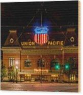 Salt Lake City Union Pacific Depot Wood Print