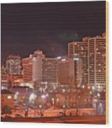 Salt Lake City Utah Wood Print