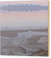 Salt Lake Sunset Wood Print