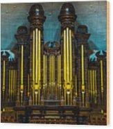Salt Lake Tabernacle Organ Wood Print