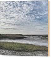 Salt Marsh And Creek, Brancaster Wood Print