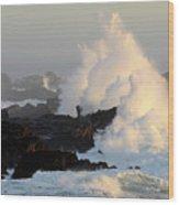 Salt Point Wave Wood Print