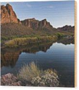 Salt River Overlook Wood Print