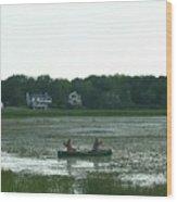 Salt Water Marsh Wood Print