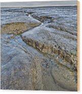 Saltings Channel Wood Print