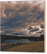 Saltmarsh Pond Gilford Nh Wood Print