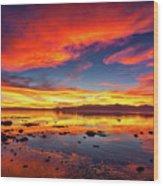 Salton Sea Sunset Wood Print