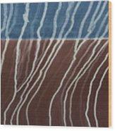 Saltwater Trails #1 Wood Print