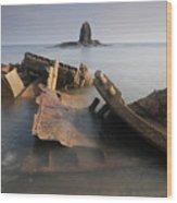 Saltwick Bay Wood Print