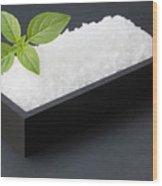 Salty Basil Wood Print