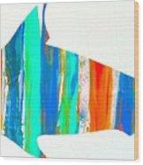 Salty Shark Wood Print