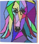 Saluki Colors Wood Print