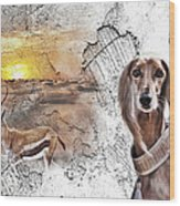 Saluki - The One And Only Wood Print
