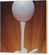 Salute To Golf Wood Print