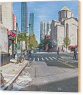 Salvador Dali Manhattan Wood Print