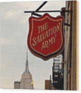 Salvation Army New York Wood Print