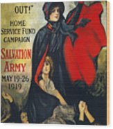 Salvation Army Poster, 1919 Wood Print