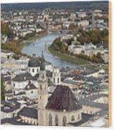Salzburg Wood Print by Andre Goncalves
