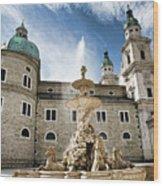 Salzburg Cathedral Wood Print
