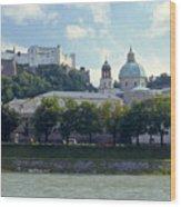 Salzburg City View Five Wood Print