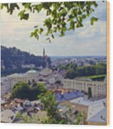 Salzburg City View Four Wood Print