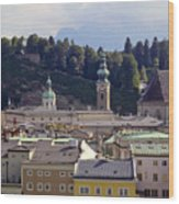 Salzburg City View Three Wood Print
