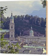 Salzburg City View Two Wood Print
