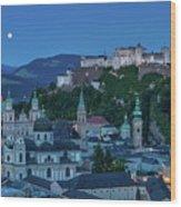 Salzburg City With Hohensalzburg Fortress, Salzburger Land, Austria Wood Print