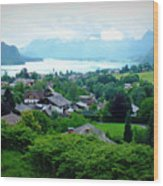 Salzburg Lake District Wood Print