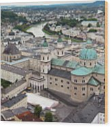 Salzburg Panoramic Wood Print