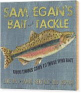 Sam Egan's Bait And Tackle Wood Print