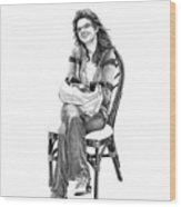 Samantha Jonice Elliott Wood Print by Murphy Elliott