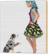 Samantha Wood Print by Nancy Levan