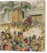 Samaria Falling To The Assyrians Wood Print