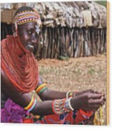 Samburu Beauty Wood Print