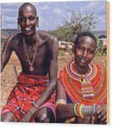 Samburu Couple Wood Print