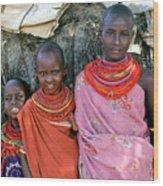 Samburu Sisters Wood Print