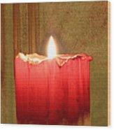Same Candle New Color Wood Print