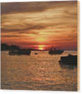 Samed Island Sunrise Wood Print