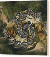Sammy Snail Wood Print by Julie Grace