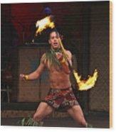 Samoan Fire Dance Wood Print