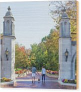 Sample Gates At University Of Indiana Wood Print