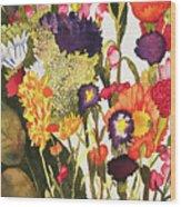 Sam's Flowers Wood Print