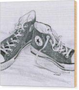 Sam's Shoes Wood Print