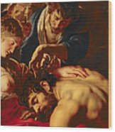 Samson And Delilah Wood Print by Rubens