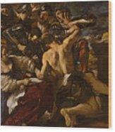 Samson Captured By The Philistines Wood Print