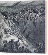 Samson Destroys The Philistines With An Ass Jawbone Wood Print